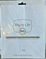 American Crafts Becky Higgins Project Life Photo Pocket Pages 6 x 8 Design 3