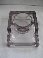 Vintage Antique SENGBUSCH Purple Glass Ink Well, 3 Quill/ Pen Holder - No. 300