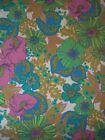 70's Groovy Floral ~ Rajah Garden ~ Springmaid Wondercale Full Double Flat Sheet