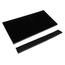 2pcs Rubber Bar Runner Service Mat Water Proof Drip Coasters 60x8cm 30x15cm