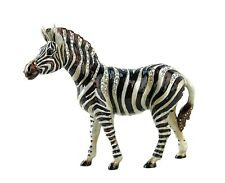 "Jay Strongwater Jungle Stanley 6.5"" Zebra Figurine Natural Swarovski New Box Usa"