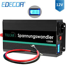 Spannungswandler 1200 2500 Watt 12V 230V Wechselrichter Inverter mit LCD Kabel