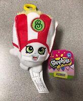 """Brand New 4"""" Shopkins Plush Hanger Keychain Backpack Clip US Seller Poppy Corn"""