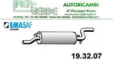 REAR SILENCER IMASAF FOR 18121245330 - 18121245783 BMW SERIE 5 (E12)