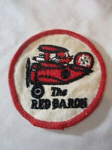 """Vintage The Red Baron 3"""" Patch"""