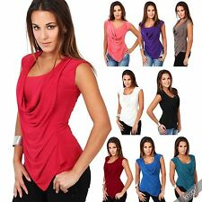 Taillenlang Damenblusen,-Tops & -Shirts mit Rundhals und Polyester für Party