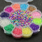 MultiColor 2mm Glass Seed Spacer Small Round Beads Box Set For Jewelry Making LJ