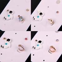 3 Set Asymmetric Earrings Astronaut Planet Star Ear Stud Trendy Cute Jewelry