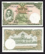 Thailand 20 Baht (1955) P77d Sign 44 King Rama Ix banknotes - Unc