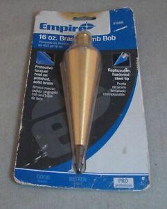 Empire 916BR 16oz Brass Plumb Bob NEW