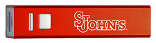 St. John's University-Portable Cell Phone 2600 mAh Power Bank Charger-Red