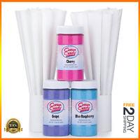 Cotton Candy Floss Flossine Sugar Flavoring Machine Maker Supplies Kit 50-Cones