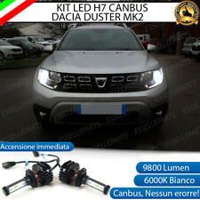 KIT FULL LED DACIA DUSTER MK2 LAMPADE H7 6000K BIANCO 9800 LUMEN CANBUS LED