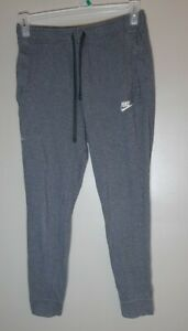 Nike Sz Medium Gray Sweatpants Pockets logo