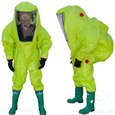 Sealed Respirex Tychem Tk Gas-Tight Hazmat Suit Type 1A Attached Boots & Gloves
