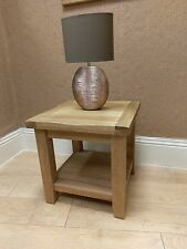 Pair of Westminster Solid Oak Lamp Tables / Side / End / Bedside 50cm 50cm 50cm