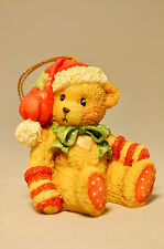 Cherished Teddies: Bear In Stocking - 950653 - Red Cap - Holiday Ornament