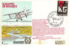 RAF ES10 Escape from Belgium flown Escaper RAF cover