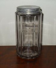VTG Hoosier Kitchen Cabinet Canister Spice Jar Paneled Purple Amethyst Sun Glass