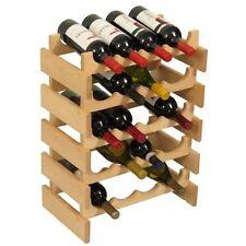 Wooden Mallet 20-Bottle Unfinished Dakota Wine Rack NEW