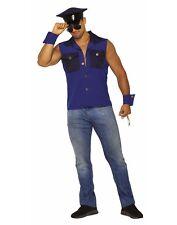 Arrestingly Handsome Mens Adult Blue Cop Police Officer Costume Set-Std