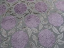 Sanderson Curtain/Upholstery Fabric 'CERES VELVET' 3.5 METRES 350cm Lilac/Silver