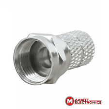 20 X  6.5mm/20mm  F-Connectors Twist On - F-Plug for RG6 Satellite Cable
