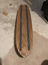 1970's Original Solid  1 Piece Of Wood Skateboard Lazer Trucks Oj Wheels Museum?