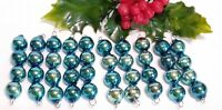 Vintage BLUE Mercury Glass Bead Icicles Lot of 10 Christmas Ornaments