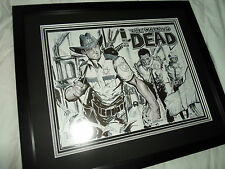 the Walking Dead Original Sketch Art of Rick Grimes Leaving Mayberry   NOT CGC