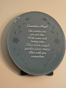 About Face Designs GUARDIAN ANGEL - OVAL GLASS PLAQUE #123466 NEW Sentiment