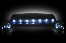 2002-2007 Chevy Silverado GMC Sierra Smoke Cab Roof Lights w/ White LEDs