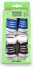 Teenage Mutant Ninja Turtles TMNT 2-Pack Infant Toddler Booties Socks 0-6Mth NEW