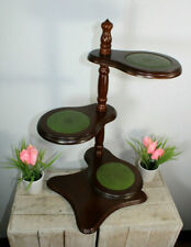 Vintage 1970 English wood plant stand 3 level for planter jardiniere Vase