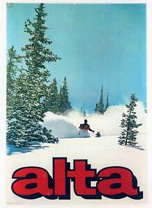 """""""ALTA"""" UTAH (1967) VINTAGE SKI POSTER* by LOOART Colorado Springs ROCKIES SKIING"""
