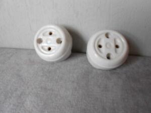 Pair of Vintage French Porcelain POWER OUTLETs ...130V  or 230V