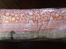 New Pottery Barn Lena Orange Pink Brown Crib Bumper