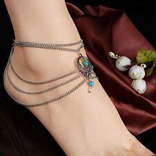 Women Bead Chain Anklet Ankle Bracelet Barefoot Sandal Beach Foot Tassel Jewelry