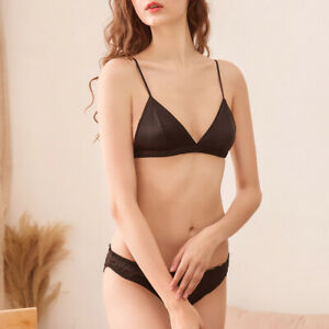 Small Bosom Women Bras Set Sexy Triangle Brassiere Non Padded Lingerie+Panties