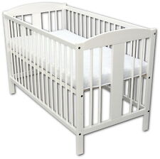 Baby Bed Cot Wiegebett 120x60 White with Mattress New