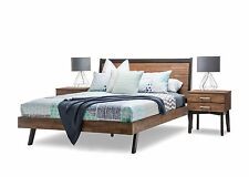 New Selena Solid Acacia Timber Rubber Wood Rustic Double Size Bed Frame Only