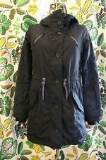 Athleta Black Insulated Peak Parka Down Jacket Coat Size XS