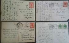 GB 4 1929 KG V 9th Congress UPU Postcards Brighton Weston Super Mare Arthog