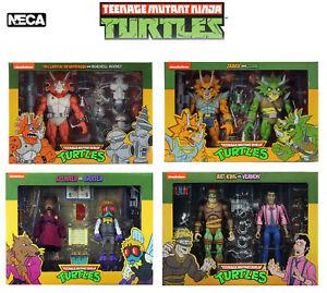 NECA Teenage Mutant Ninja Turtles 2 Packs TMNT 80's Cartoon Boxed Official UK