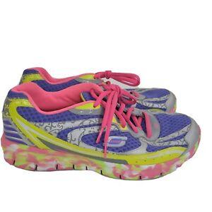Women's Synergy Confetti Purple Pink SKECHERS Sport Sneakers Shoes Sz 9.5 HTF