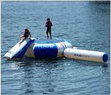 Lake Trampoline With Slide Large Water Bouncer Floating Dock Kids Rebounder Log