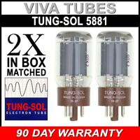 New Plate Current Matched Pair (2) Tung-Sol Reissue 5881 / 6L6WC Vacuum Tubes