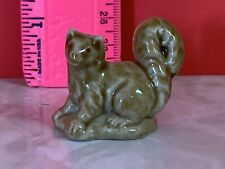 Vintage Wade Whimsies Bushy-Tail Squirrel Figurine English Porcelain Miniatures