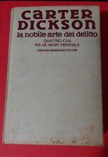 CARTER DICKSON LA NOBILE ARTE DEL DELITTO 1 ED. 1990 OMNIBUS  MINDADORI