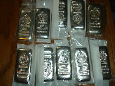 (10) .999 Silver Bar Scottsdale 100 gram  bar LOT